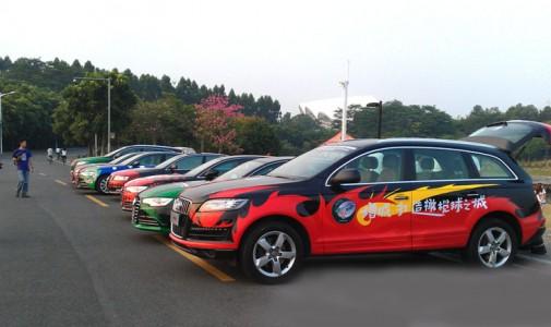 广州增城汽车彩绘巡游–汽车彩绘