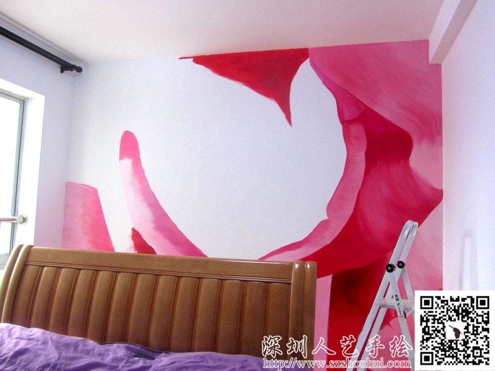 室内背景墙手绘,wzy211