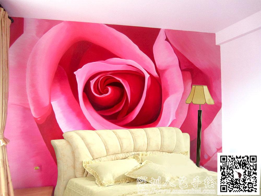 室内背景墙手绘,wzy31
