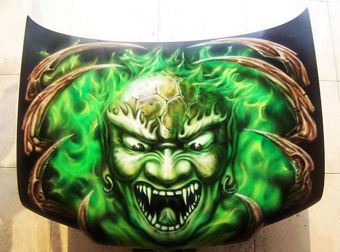 机盖 绿色鬼头-1