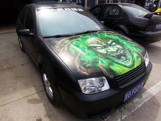 机盖 绿色鬼头-2