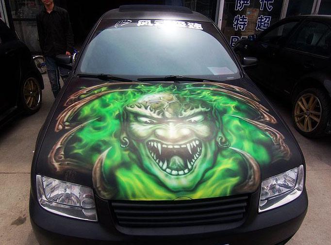 机盖 绿色鬼头-3
