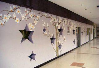 福田某公司的走廊墙绘