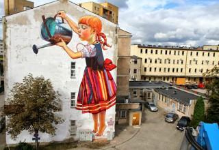 外墙涂鸦手绘