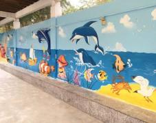 盐田外墙广场海底世界手绘