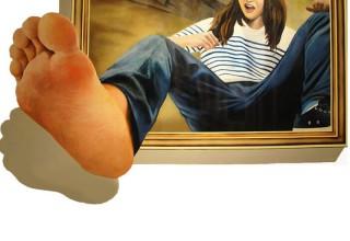 3D画–女孩的大脚丫