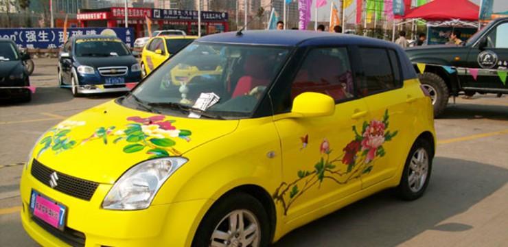 炫酷的汽车彩绘