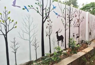 盐田广场外墙手绘壁画