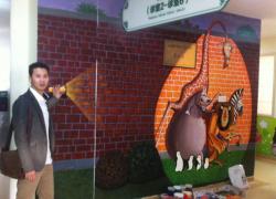 深圳远东妇儿科儿科医院大堂3D画