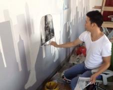 工厂办公室–手绘背景墙