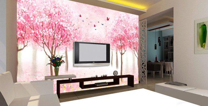 家居背景墙手绘