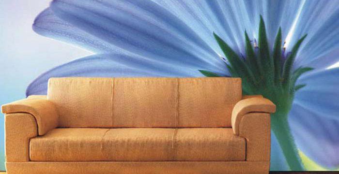 温馨家居电视背景手绘