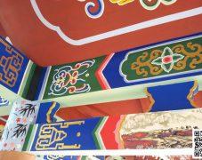 古建筑屋檐彩绘