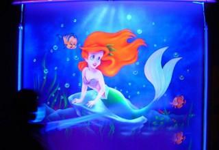 卡通美人鱼隐形壁画手绘