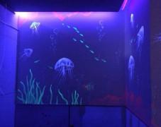 海底小精灵隐形壁画手绘