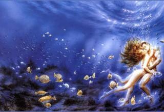 海底世界隐形壁画手绘