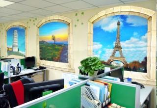 可亲的手绘办公室
