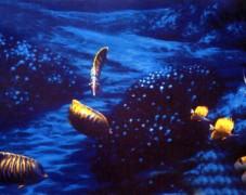蓝色港湾隐形壁画手绘