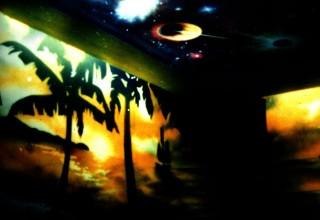 海南风光隐形壁画手绘