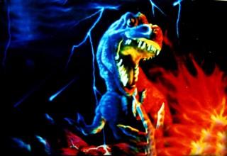 疯狂恐龙隐形壁画手绘