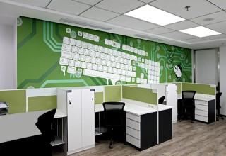 电子科技公司手绘墙