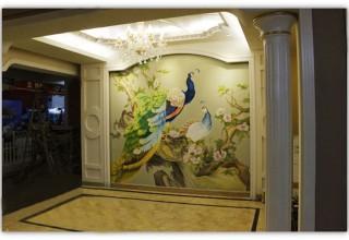 富贵牡丹电视背景墙