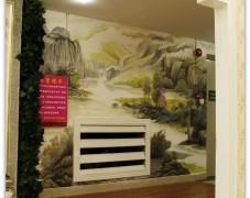 手绘走廊背景墙