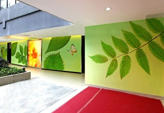 亲近自然-手绘公司走廊