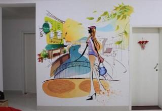 卡通背景墙手绘