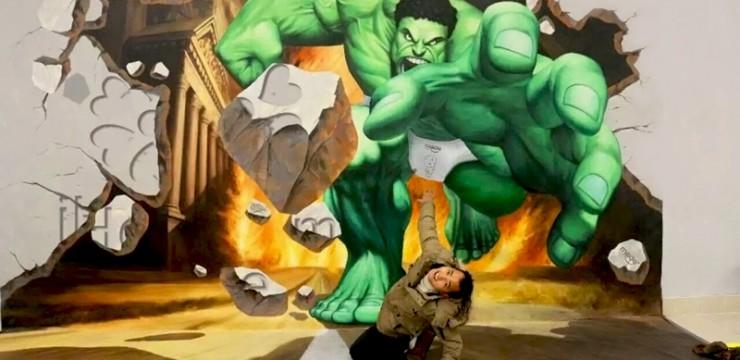3D绿巨人手绘