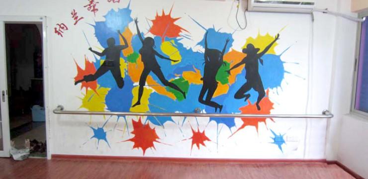印度舞蹈房手绘墙画