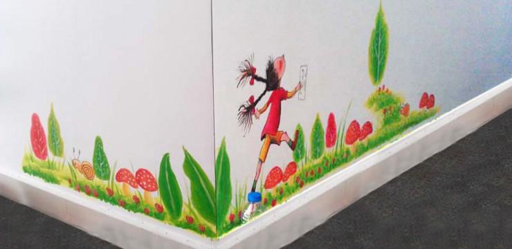 几米风格–儿童房手绘