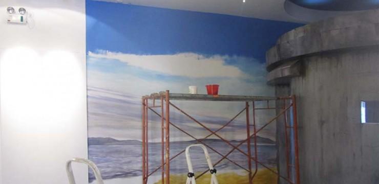 少先队纪念馆手绘墙画