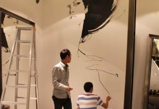 理发店墙壁彩绘