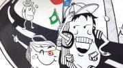公司背景墙–创意速写手绘