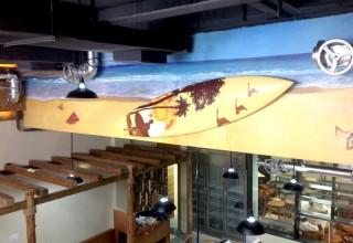 海洋主题餐厅手绘
