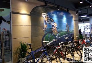 商场手绘–自驾游自行车手绘