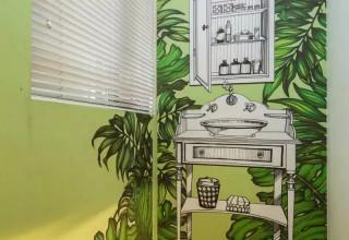 样板房洗手台手绘