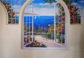 样板房手绘–阳台手绘