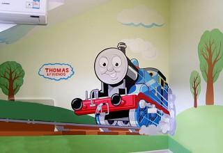 儿童房手绘–托马斯