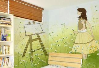 公主房手绘–四叶草