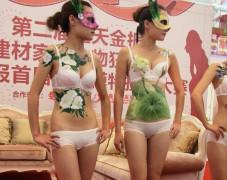 人体彩绘–中国画