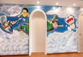 儿童房手绘–哆啦A梦