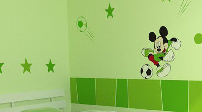 米老鼠儿童房手绘