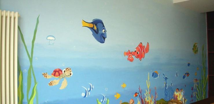 海底世界儿童房手绘
