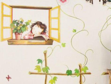 温馨儿童房手绘