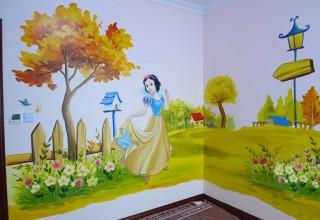 儿童房手绘–白雪公主手绘