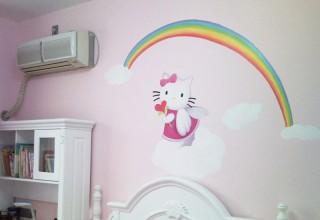 儿童房手绘–Hellow Kity