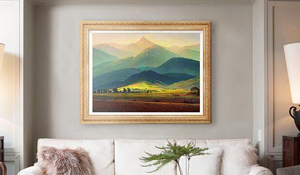 客厅装饰画–巨人山