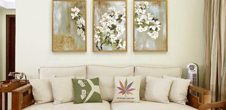 客厅装饰–画苹果花开